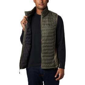 Columbia Powder Pass Vest Men, olijf/grijs